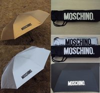 Wholesale Free DHL New Women Men Mo schino Sunny and Rainy Umbrella Sun protection vinyl sunshade anti uv umbrella Umbrella
