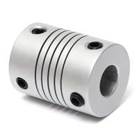 aluminium motors - 5mm x mm Aluminum Flexible Shaft Coupling OD19mm x L25mm CNC Stepper Motor Coupler Connector MAC_00K