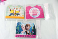 Wholesale 2016 Frozen Pink pig Mr Minions Cars Party Decoration Elsa Birthday Party Supplies Invitation Greeting Congratulation Cards