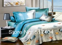 beach design bedding - 2013 New Spring ocean queen bedding fashion design fresh beach ocean bedding Queen full size EMS