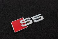 Wholesale Auto Car S5 Badge Emblem D Metal chrome Sticker Fit For Audi Sline S line car styling