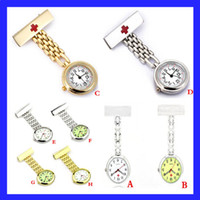 Wholesale Retro Vine Quartz Nurse Movement Clip on Brooch Watch Hanging Pendant Fob Professional Medical Nurse Watches Gift