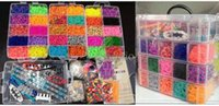 Wholesale 18000pcs Rubber Band Layers Plastic Box Silicone Rubber Stretch band Loom Bands Kit Plastic Box Rubber Molds For Concrete DIY