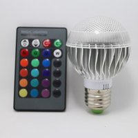 Globe rgb led price - 30pcs color changing Factory outlet Low price AC V RGB LED Lamp W E27 led Bulb Lamp with Remote Control CREE led lighting