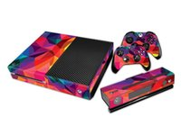 Cheap Colorful Protective Vinyl Decal Skin Stickers Wrap For Xbox ONE Console+ 2 Xbox ONE Controller+Kinect Skin