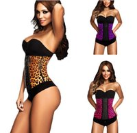 Cheap Wholesale-New Arrival!2015 Women Corset Steel Boned Waist Trainers Rubber Latex Corset Underwear Bustiers Slimming Body Shaper XS-3XL