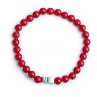 beaded bean bracelet - FC The new national wind jewelry bracelets handmade red beans creative cartoon cute kittens shell beaded bracelet KL