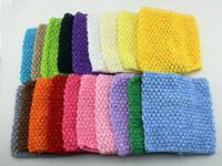 Cheap 200pcsRetail New 20cmX23cm Baby Girl 9inch Crochet Tutu Tube Tops Chest Wrap Wide Crochet headbands Christmas gift free shipping
