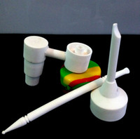 ceramic jar - newest glass bong ceramic accessories ceramic dabber domeless nail carb cap war jar water pipe accessories
