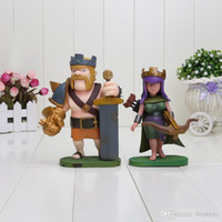 Wholesale COC Clash of Clans Archer Queen Barbarian King PVC Action Figure Collectible Toy Doll