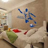 bedroom football wallpaper - We Are The Champions Football Soccer Removable Wall Sticker kids rooms decor Wallpaper Art Decals Home Garnish x cm