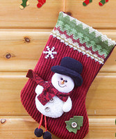 baby doll stockings - Christmas decoration socks indoor New year xmas hanging dolls boots stockings Kids baby gift snowman socks S6021