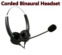 Wholesale USB Stereo Binaural Headset Corded Call Center Headphone with Noise Canceling Mic and Volume Control For Phone Sales Telephone Counseling