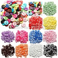 Wholesale 500Pcs Holes Round Resin Buttons Scrapbooking Sewing DIY Craft Color MM