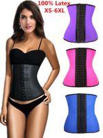 Wholesale latex waist trainer girdle waist training corsets hot body shapersWomen s Underw latex waist cincher corset slimming women body shaping belt
