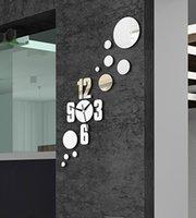 Wholesale 2016 NEW design modern mirror wall clock wall clock sticker mirror clock sticker