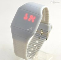 Wholesale 200pcs Foreign trade ultra thin LED touch screen watch cheap gift watches silicone watches size