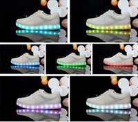 Wholesale 7 Colors LED luminous shoes unisex led sneakers men women sneakers USB charging light led shoes for adults led shoes