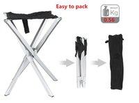 aluminum wood chairs - Best seller Strong Aluminum alloy cross Legs Oxford cloth face portable Mini folding Chair Travel picnic sunbath Fishing stool