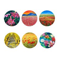 Wholesale 2015 New Fashion Flowers Print Place Mat Coasters Disc Pads Bowl Pad Cup Pad Mat Coaster Heat Insulation Pad