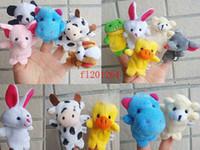 Wholesale 10pcs Cartoon Finger Puppet Finger Toy Finger Doll Animal Doll Baby Dolls for Kid s Fairy Tale Finger Toys Puppet