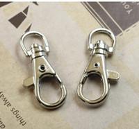 Cheap Free shipping 5000pcs lot 3.8cm Key Rings Lobster Clasps Swivel Trigger Clips Snap Hooks Keychain Key Ring