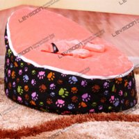 Wholesale baby beanbag sofa bed baby seat two upper covers in stock seat belt cover pad