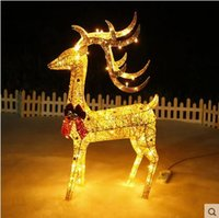 animated reindeer - Animated PC M Lighted Reindeer Deer Family Christmas Yard Decoration Lights New