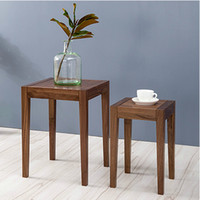 Wholesale Nordic style furniture two piece square table solid wood small tea table side table