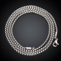 arrival zirconia fashion - 2015 New Arrival Casual Men Necklaces Silver Stainless Steel Braided Chains Necklaces Men mm Fashion Men Jewelry GMYC008