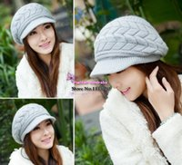 homies - 2015 Casual Beanie Thickening Thermal Homies knitted hat Gorro women s rabbit fur cap Hats for women Winter hat Beanies