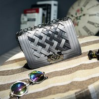 ladies bags uk - 2015 UK USA stylish crochet chain shoulder bag hot sales korea gradient woven handbag for lady factory directly sales welcome