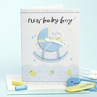 baby minds - Baby baby birthday card childlike creative cute little card dimensional greeting card upscale greeting mind
