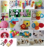 Wholesale Brand quality baby toys children friend cartoon animal mix designs Leaning Education toys made of plushed festival gifts