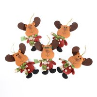 artificial trees china - 5pcs Elk Mini Merry Christmas Dolls Hanging On Tree Decoration Supplies Decorations China For Home Decor And Trees Artificial