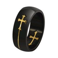 Wholesale Top Quality Titanium Ring with Cross Charms Moveable Cross Titanium Ring Both Men Women Style OTR20