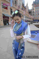 Wholesale The new autumn leaves scarf printed scarves female star elegant long scarf color options JIA384