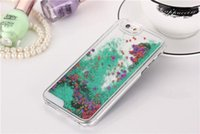 Wholesale 2015 Hot Sale Dynamic Liquid Running Quicksand Glitter Stars Case for iPhone s s plus galaxy s5 s6 note