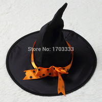 Wholesale Halloween Children Kids Baby Girl sexy Witch Dress Witch Costume Costumes Bow knot Party Cosplay Performance Clothes for Girls