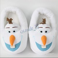 house shoes - 2015 new frozen doll adult Shoes Home shoes Olaf Warm Plush Stuffed Casual Shoes House pulsh Shoes gift for man woman Frozen A Pairs