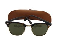 best eye glass frames - Best Quality Brand Sunglass Mens Womens Fashion Tortoise frame Sunglass UV400 Green Lens mm With Brown Case Box