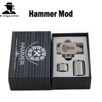 Electronic Cigarette Hammer battery body AS PICTURES Hammer Pipe Mod Kit E Cigarette Mechanical Mods Top Airflow Control Lock Protection System 510 eGo Thread VS Raijin Mod Tugboat V2
