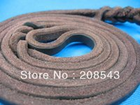 Wholesale Leather Leashes Leather Dog Leash German Shepherd Dog Rope Chain BC401 Small And Medium Sized Brass Hooks