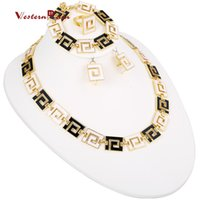 african jewelry - WesternRain Latest Fashion Brand New Jewelry Gorgeous Black with White African Causal Jewelry Set for Women A118