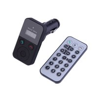 Wholesale Car Kit Handsfree Bluetooth Wireless FM Transmitter USB SD LCD MP3 With USB Remote Control