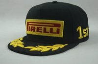 Wholesale F1 balck Pirelli cotton baseball racing cap outdoor sports hat motorcycle Embroidery cap