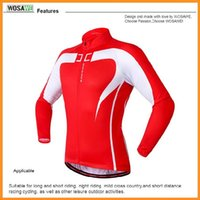 Wholesale WOSAWE men red Cycling Jacket Winter Windproof Bicycle Clothing Soft shell Coat MTB Bike Jersey Via DHL