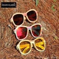 bamboo companies - The company supplies natural bamboo color latest fashion trends new green colored glasses sports glasses