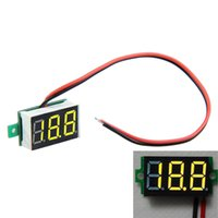 Wholesale Mini DC V Red LED Panel Voltage Meter Digital Display Voltmeter Electrical Instruments Voltage Meters PTCT