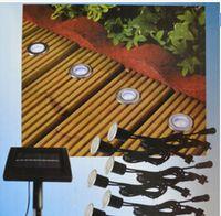 Wholesale Solar Power LED Deck Lights Floor Lamp Stair Light IP67 Outdoor Waterproof Underground Lighting Lamps Solar Panel Step Light